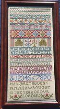 **PDF** Margaret Boden 1819 Sampler Cross Stitch Chart Smoky Mountain Stitches