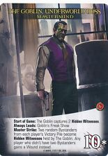 GOBLIN, UNDERWORLD BOSS Upper Deck Marvel Legendary NOIR MASTERMIND