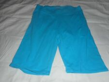 Girls Justice Teal Blue Shorts Leggings Size 12