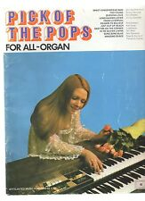 PICK OF THE POPS FOR ALL-ORGAN ARRANGED BY CECIL BOLTON & JACK MOORE 1973 PB