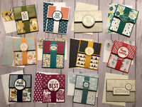 12 All Occasion greeting card gift card holders  & envelopes Birthday Thank You