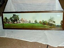 ANTIQUE PRINT ORIGINAL WASHINGTON MT VERNON HISTORICAL YARD LONG FRAME 1901 AAFA