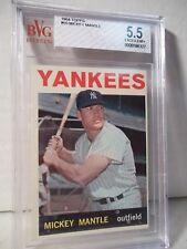 1964 Topps Mickey Mantle BVG EX+ 5.5 Baseball Card #50 MLB HOF Collectible