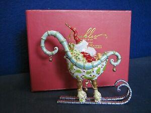 Patience Brewster Krinkles Christmas Dept 56 Jeweled Santa in Sleigh Box (B)