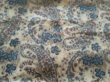 """Floral Corduroy Ribbed Fabric 25"""" X 44"""""""