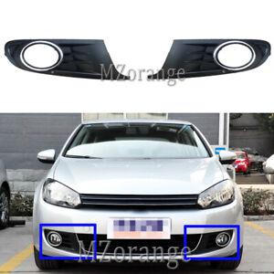 2x Front Bumper Fog Light Cover Girll For VW Volkswagen Golf 6 Jetta SportWagen
