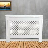 Radiator Cover White Painted Modern MDF Wood Cabinet - Star Design 6mm Grill UK