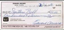 Eddie Arcaro Jsa Hand Signed Personal Check Authentic Autograph