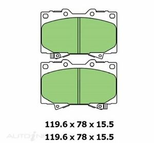 Protex Ultra 4WD Front Brake Pads for Toyota Landcruiser 105 79 76 78 series