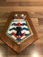 Vintage Royal Fleet Auxilary Ships Plaque FORT AUSTIN Maritime Royal Navy Boat