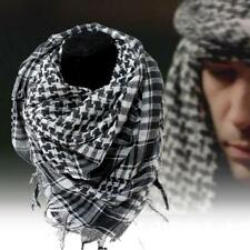 Light weight Military Arab Tactical Desert Army Shemagh KeffIyeh Scarf Black GA
