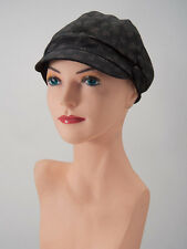 2 Of Our BLACK BUTTON RIDING CAPS Cancer Patient Gift Chemo Hat Turban Alopecia
