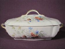 Ancien Légumier Porcelaine VIERZON ADOLPHE A. HACHE & Cie DECOR BLEUET Fin XIX