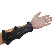 3 Strap Look Shooting Archery Arm Guard Protection Safe Guard Leather GO9