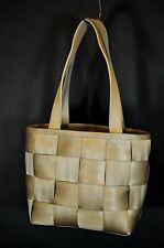 "Harveys Seatbelt Bag Champagne Taupe Color Open Top 10x7x4"" Smaller Satchel"