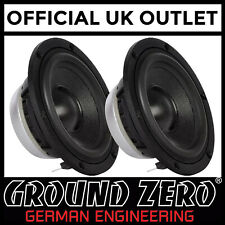 "Ground Zero GZNM 80SQ - 3.12"" Inch 80mm 100 Watts 4-Ohm Midrange Car Speakers"