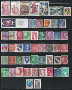 France - 50 Different Stamps (F)