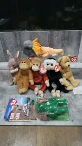 Lot of 7 TY Beanie Babies w/tags