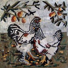 Mosaic Kitchen Backsplash- Chicken Chick Birds And Butterflies Mosaic Tile