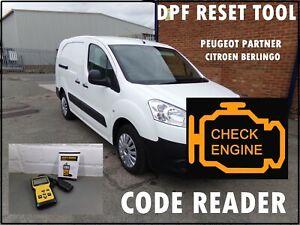 PEUGEOT PARTNER VAN DPF RESET DASHBOARD LIGHT EML ENGINE CODE READER FAULT FIND