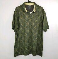 adidas Climacool Mens Short Sleeve Tennis Polo Shirt Green Size Medium