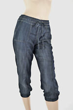 Dark Navy Blue Basic Minimalist Versatile Wide Leg Palazzo 244 mv Pants S M L