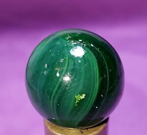 Gorgeous Vintage RARE Master Glass Sunburst Marbles With Aventurine .62