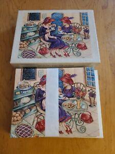 "Lang Co. Linen Embossed Note Cards (13) NOS ""Gift of Gab"" Karen Ware Erickson"