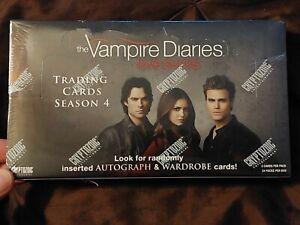 "Vampire Diaries sealed card box season 4 ""Love Sucks"" w/1 autograph & 1 costume"