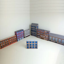 More details for z gauge 1:220 card model railway industrial warehouses 7 x buildings p-i-004 int