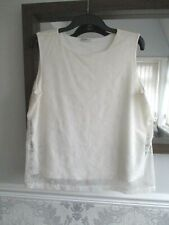 George Plus Size 20 ivory/cream sleeveless lace overlay blouse/top Nice Item!
