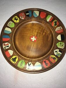 """OLD REUGE WORKING WOODEN MUSIC BOX PLAYS """"Raindrops""""- Coat Of Arms"""