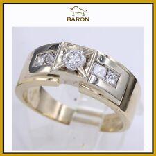 1.00 CARAT MENS DIAMOND RING 14K YELLOW GOLD & DIAMONDS MEN RING SIZE 11.5