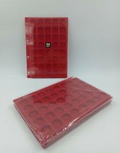 LOT 10 BOX PLAQUES INTERCALAIRES FEUTRINE 40 CASES POUR CAPSULES / CLASSEUR A4