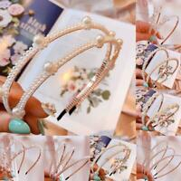 Pearl Headband Jewel Hair Band Ladies Headwear Accessories for Wedding Party New