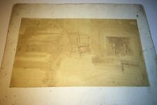 Rare Antique American Artistic Room Interior! Focused Chair! Piano Cabinet Photo