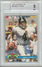 Brett Favre Farve 1991 Stadium Club #94 Rookie Card rC BGS 9 Mint QUANTITY