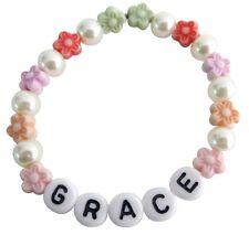 Personalized Children Stretchable Bracelet Star Beads