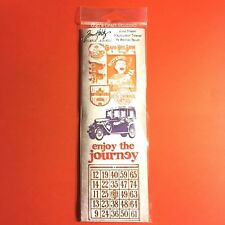 4pc Tim Holtz Stampers Anonymous Cling Stamps ~Journey~ TU-MS106