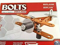 Bolts by Meccano, An Erector Style Model Kit of a Biplane, Brand New For Ages 8+