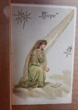 "Postcard religious "" Hope from the faith Hope and charity series unposted"