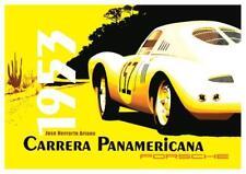 Porsche ** POSTER **  1953 Carrera Panamericana Jose Ariano 550 Coupe 356 Super