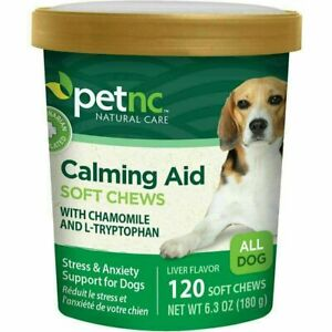 1 x PetNC Natural Care Calming Aid Soft Chews For Dog - 120 Ct | 1 Pack : 12/22