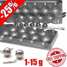 Fishing Sinker Aluminum Mold -25% DIY Do It Lead Round Jig Sport Ball 1-15 g