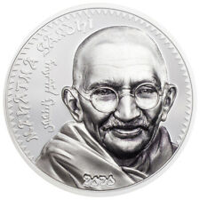 2020 Mongolia Gandhi High Relief 1 oz Silver Colorized GEM Proof OGP SKU61096