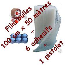 EMBALLAGES FILM A BULLES 100 x 50 m + adhesif + devidoir pour emballage & envoi