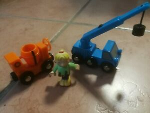 Brio Bahn,  Kranwagen Betonmischer und 1 Figur