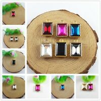 20x Multi-Colors Crystal Cameo Gold Alloy Tray Pendants Charms Crafts Findings