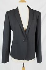 J.Crew $288 Campbell Blazer Italian Stretch Wool 14 NWT Black B3231 L Large