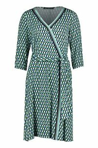 Betty Barclay Dress Size 18 BNWT Navy Jade Lime Abstract Print RRP £115 Now £52